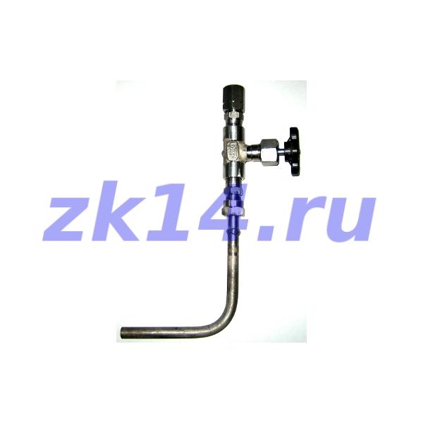 Закладная конструкция ЗК14-2-2-02 уст.2б-2 16-70-09Г2С-МУ(15лс67бк, ХЛ) отборное устройство давления угловое со стяжной муфтой на t до 70°С, Pу16МПа