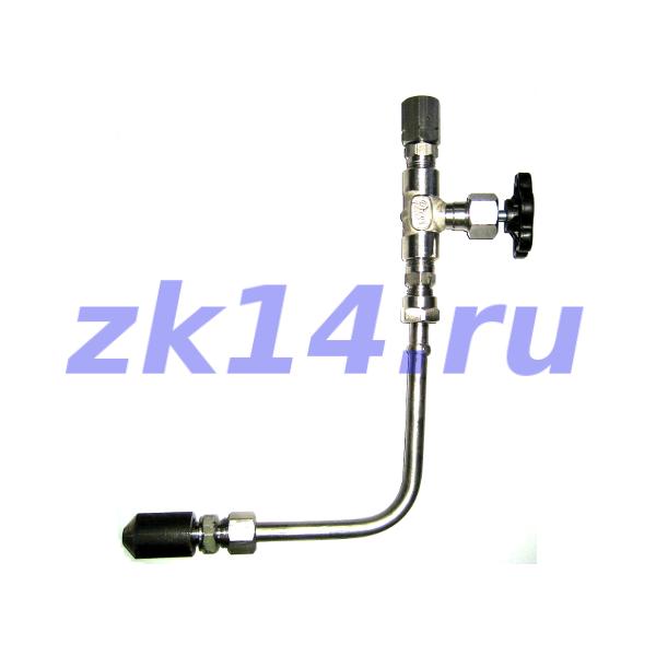 Закладная конструкция ЗК14-2-2-02 уст.2б-4У 16-70-12Х18Н10Т-МУ(15нж67бк, ХЛ) отборное устройство давления угловое со стяжной муфтой на t до 70°С, Pу16МПа, усиленное бобышкой СВ14-М20х1,5, БП12-М20х1,5-50-12Х18Н10Т