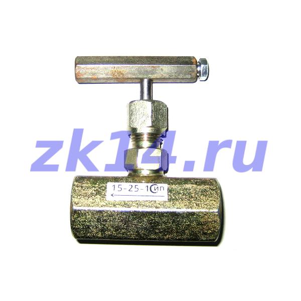 Клапан игольчатый под манометр со стяжной муфтой 15с54бкМ М20х1,5(В)/М20х1,5(Н) Ду15мм, Ру16МПа