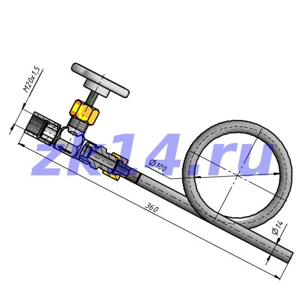 Отборное устройство давления прямое 16-200П-НТМ-Ст.20(15с54бк)