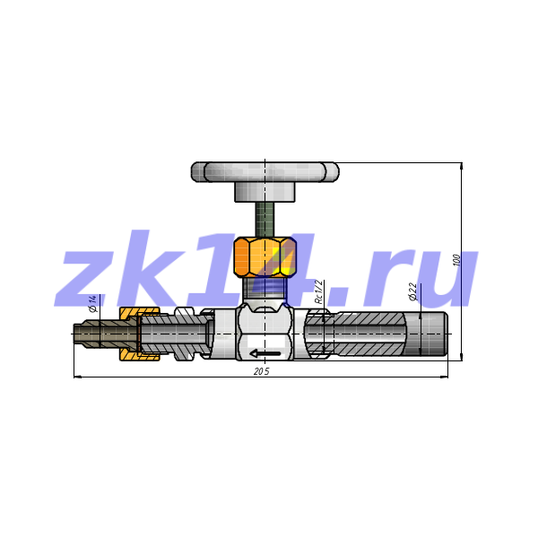 Отборное устройство давления прямое 16-200П-РШН-Ст.20(15с54бк)
