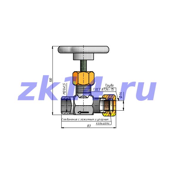 Отборное устройство давления прямое 16-200П-ЗР(ЗМ)-Ст.20(15с54бк)