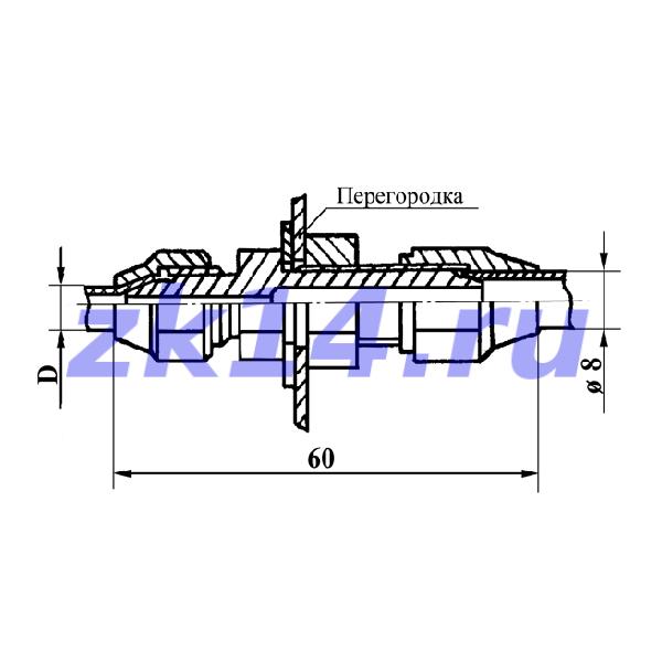Соединение переходное с медной трубы на полиэтиленовую 8Мх8П