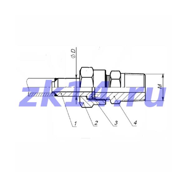 """Соединение ввертное НСВ14-G1"""" Ст.20"""