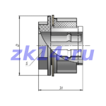 Соединение металлорукав-короб СМК-12
