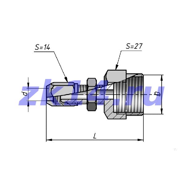 Соединения медных труб с развальцовкой, навертное СМПН8