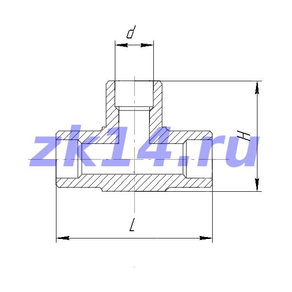 Соединение тройниковое проходное (под приварку) ТП-14 12Х18Н10Т