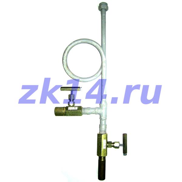 Закладная конструкция ЗК14-2-3-02 уст.4в 160-250-Ст.20-МП(15с54бк,15с54бк) отборное устройство давления прямое на t свыше 70°С, Pу16МПа