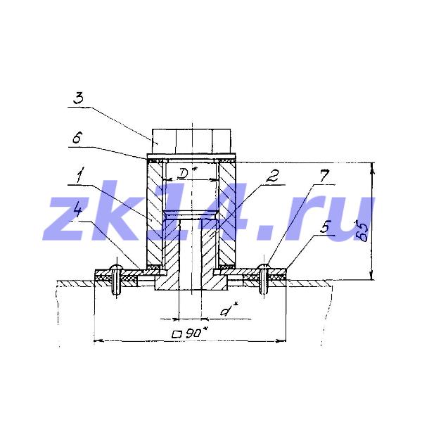 Фланец с бобышкой для установки на воздуховоде ЗК4-1-10-95